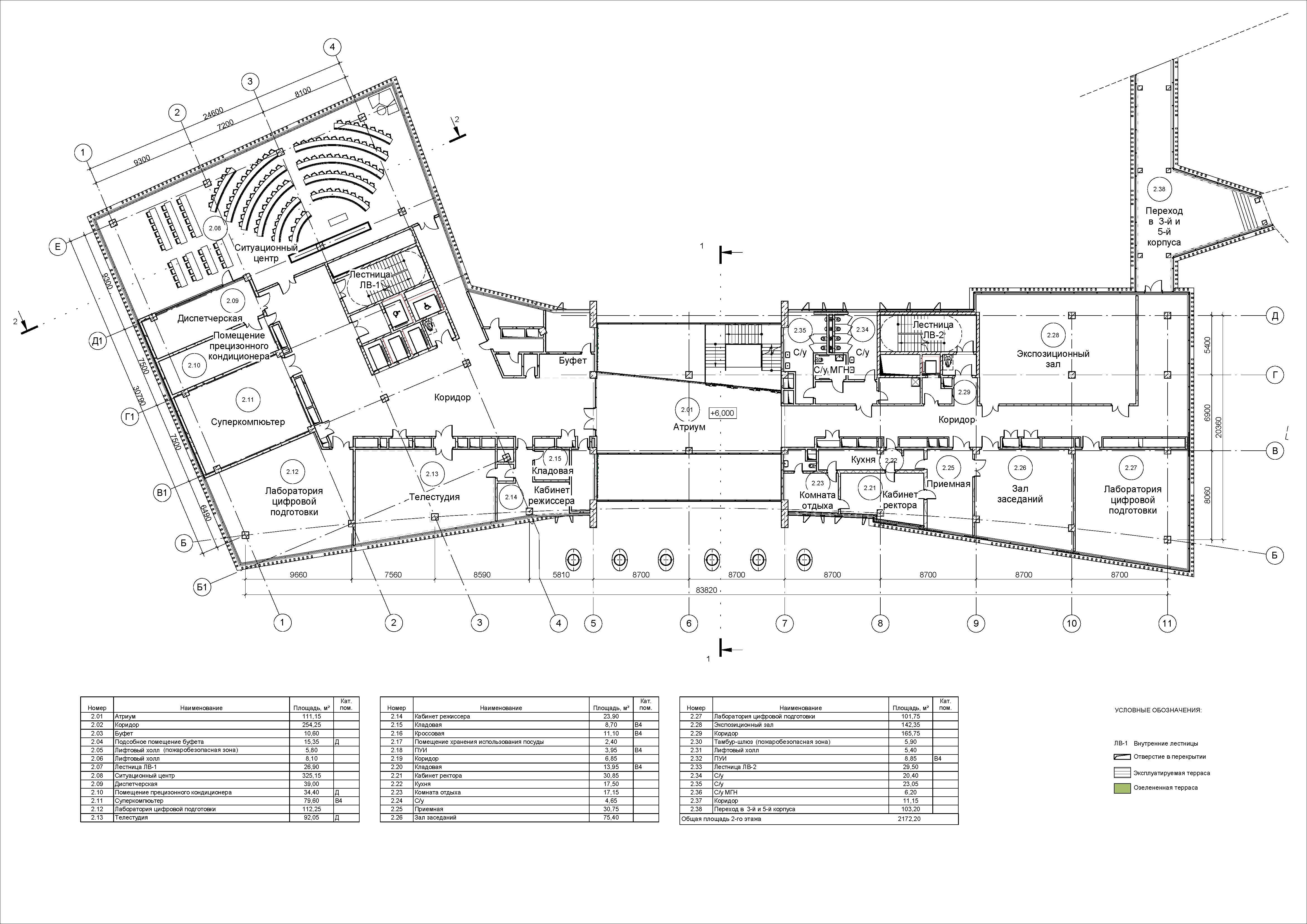 2-й этаж Корпус цифровых и информационных    технологий ФГБОУ Во РЭУ им. Г.В. Плеханова
