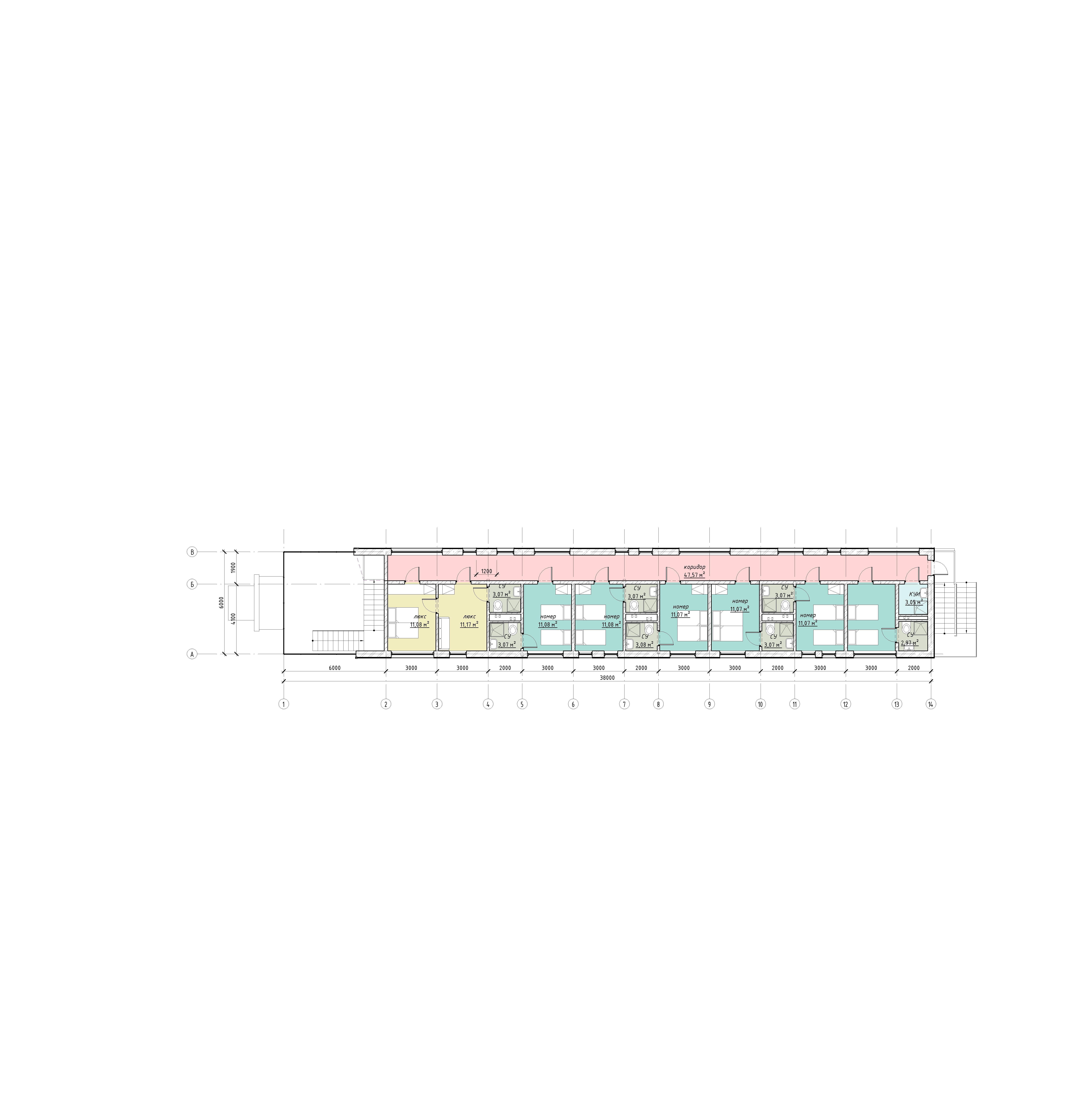 План гостиницы рядом с аэропортом Домодедово