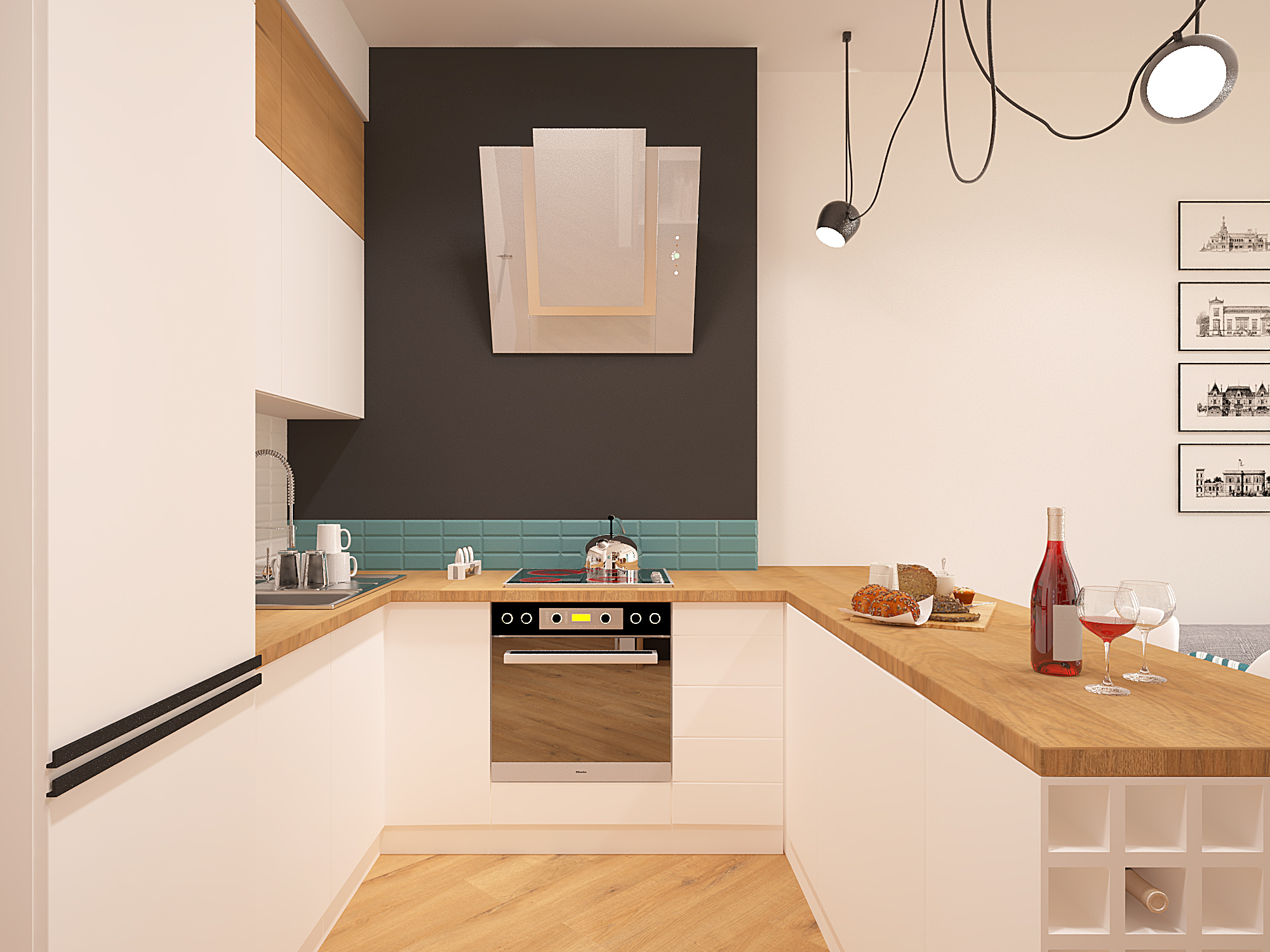 Дизайн-проект квартиры 57м2 в Ереване