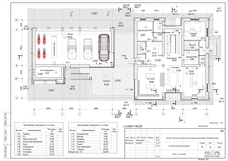 План дома в КП Лосиный парк