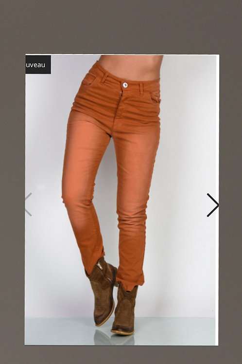 Jeans Terracotta effet vieillit coupe Regular