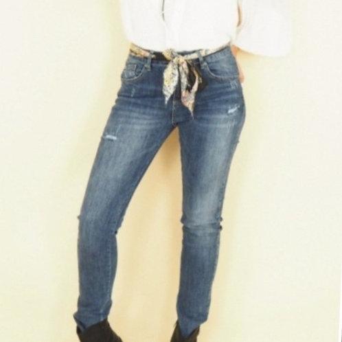 Jeans ceinture foulard