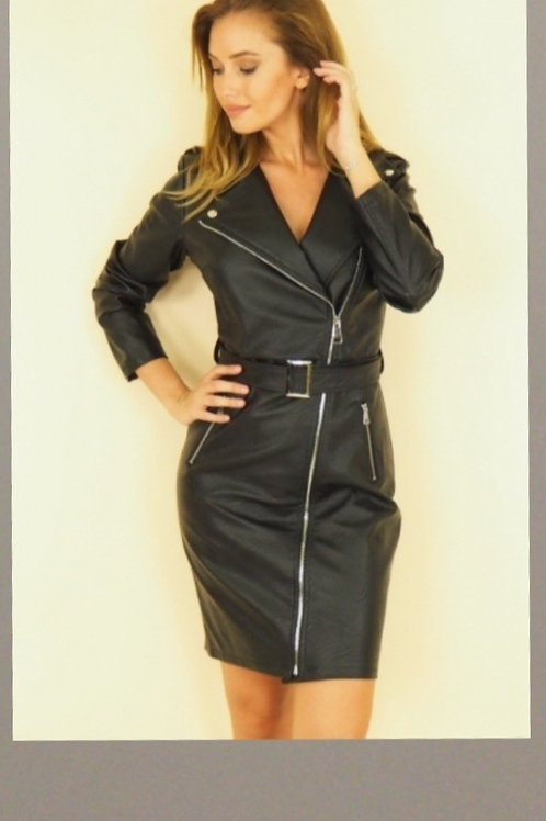 Robe Perfecto Simili Cuir