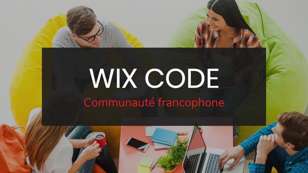 Groupe Facebook Wix Code pour les francophones !