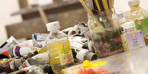 Gesso, medium à peindre, huiles, gels mediums, épaississant pour peinture beaux-arts