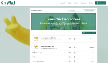 1er Forum d'entraide Wix Français !