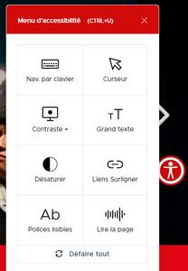 Menu d'accesibilité Userway