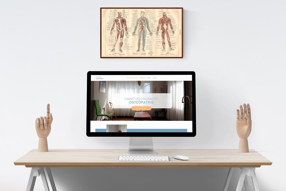 Site internet Alain Ryser Ostéopathe