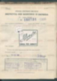 Antico documento Alceste Aromi