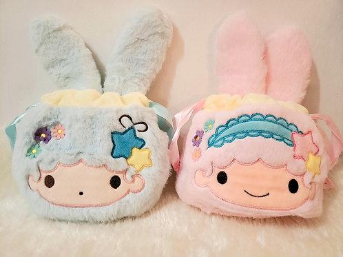 Little Twin Stars Die Cut Drawstring Bag