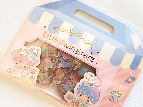 Little Twin Stars glittery stickers