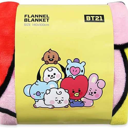 BT21 Flannel Blanket