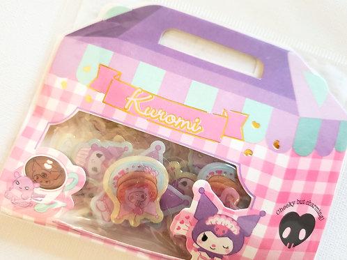 Kuromi glittery stickers