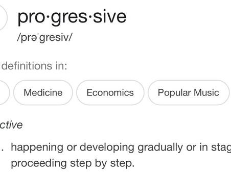 Let's be progressive