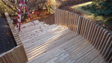 2X4 ON EDGE DECK
