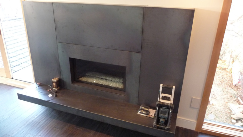 CUSTOM STEEL CLAD FIREPLACE