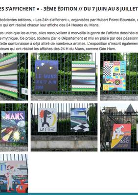 """Le Mans Poster """"Les 24 Heures du Mans s'affichent"""""""