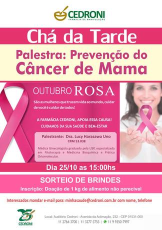 Palestra sobre Prevenção do Câncer