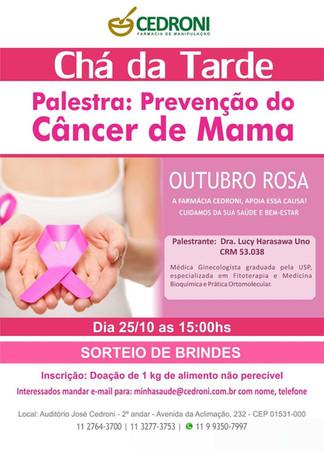 Palestra Prevenção do Câncer de Mama