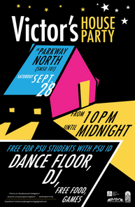 Victor's House Party Poster