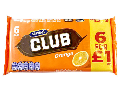 McVities Club orange 6 bars