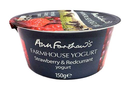 Ann Forshaw's Farmhouse Yogurt Strawberry & Redcurrant 150g