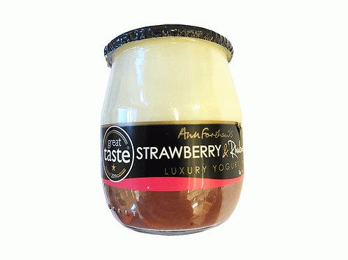 Ann Forshaw's Strawberry & Rhubarb Luxury Yogurt 140g