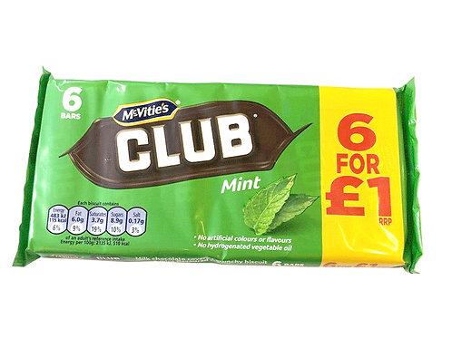 McVities Club mint 6 bars