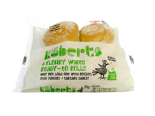 Robert's 4 Floury White Rolls