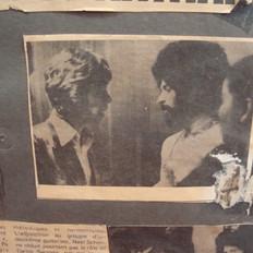 Paris newspaper, me and Mick Jagger