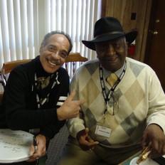 With Bernard Purdee