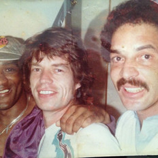 With Al Foster and Mick Jagger, Tattoo You