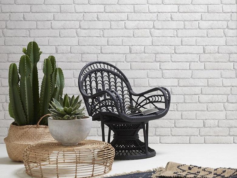 papier-peint-WHITE-OLD-BRICKS-KOZIEL-Illusionist Concept Store,Saint Etienne