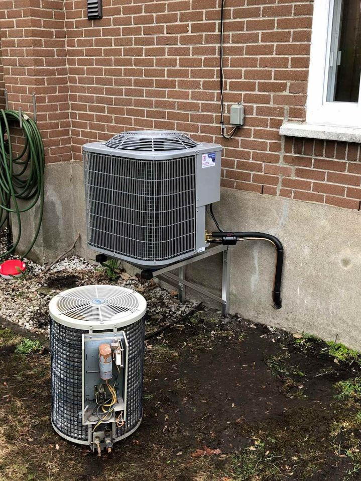 Remplacement d'une thermopompe