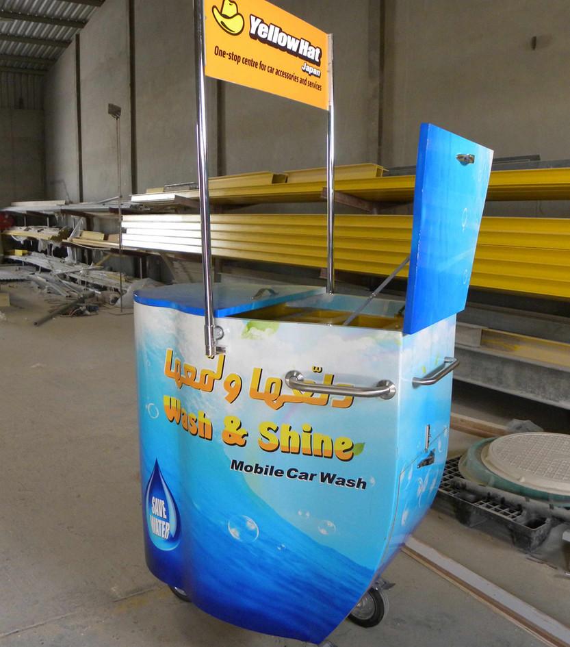 Carwash trolley - Yellow Hat