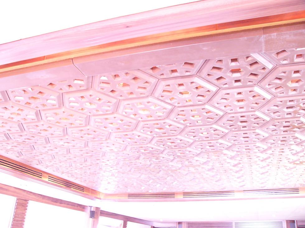 Majesty1 Yaght false ceiling metal coated