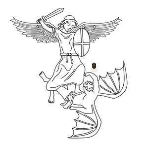 Angel V. Demon merchandise design