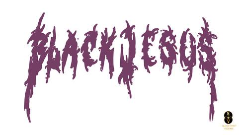 Blvck Jesus two tone logo