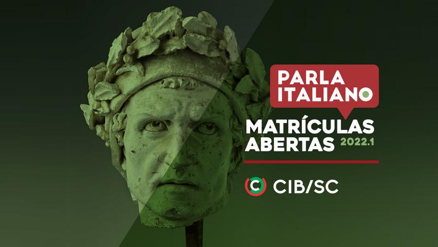 MATRÍCULAS ABERTAS PARA OS CURSOS DE ITALIANO 2022.1