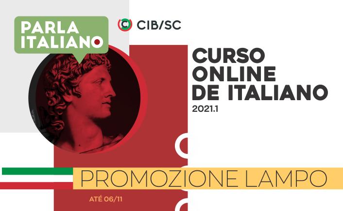 Curso ao vivo de italiano | Matrículas 2021.1