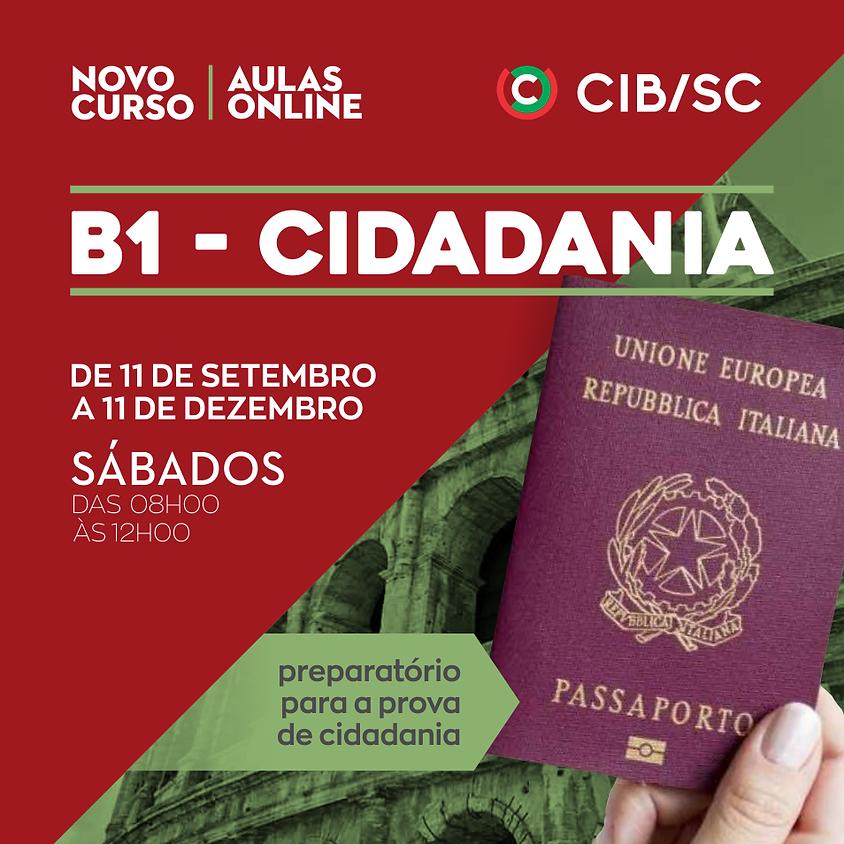 CURSO DE ITALIANO ONLINE   B1 – CIDADANIA