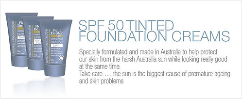 SPF 50 Tinted Foundation Creams (Soft Medium)