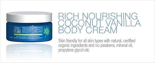 Rich Nourishing Coconut Vanilla Body Cream