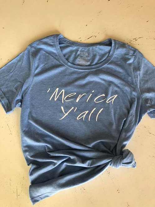 'Merica Ya'll Adult tee