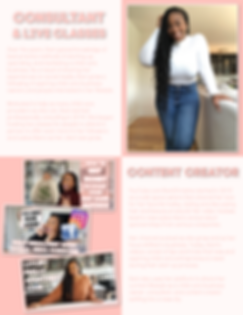Dani Christine Media Kit Consultant Page