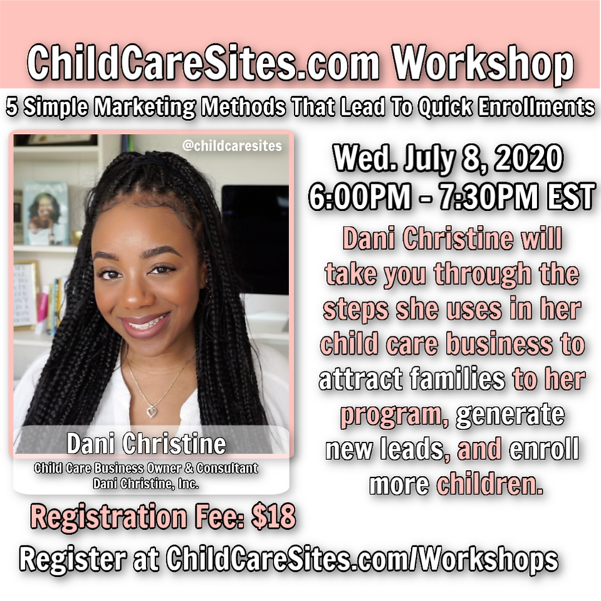 Workshop: 5 Simple Marketing Methods That Lead To Quick Enrollments