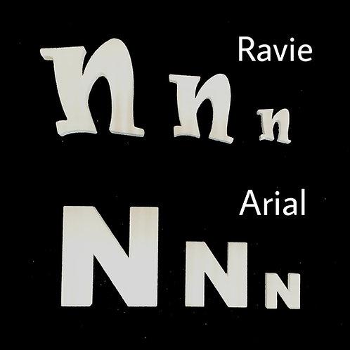 Letra N Tipografia ARIAL o RAVIE