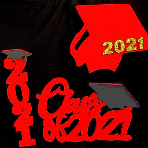 Decoraciones Graduación ( Rojo )