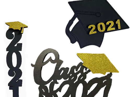 Decoraciones Graduación (Negro)