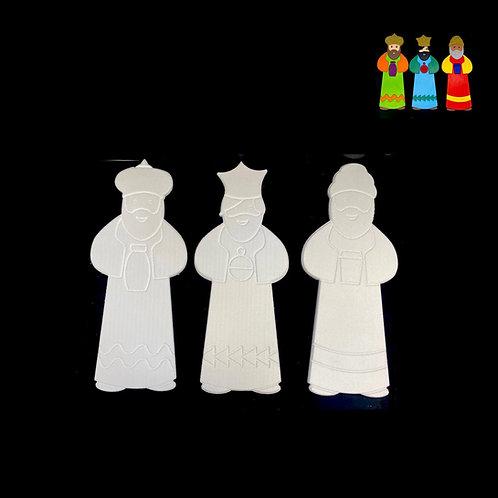 Reyes Magos Regulares( 3 Piezas )